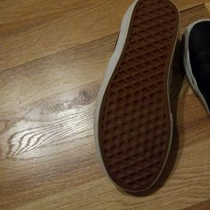 Vans Shoes - Vans leather slip-ons